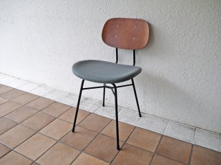 グラフ graf プランクトンチェア Plankton chair H ダイニングチェア チーク材×スチール脚 ファブリックシート ポルトグレー インダストリアルデザイン A ◇