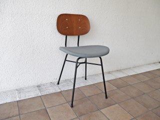 グラフ graf プランクトンチェア Plankton chair H ダイニングチェア チーク材×スチール脚 ファブリックシート ポルトグレー インダストリアルデザイン B ◇