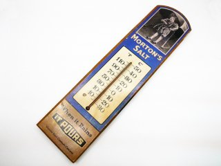 モートンソルト MORTON'S SALT 70'sビンテージ 温度計 壁掛け USビンテージ ●