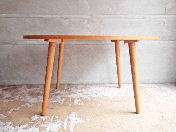 ウニコ unico アルベロ ALBERO オーバル カフェテーブル ローテーブル チーク材 レトロデザイン カフェスタイル ♪