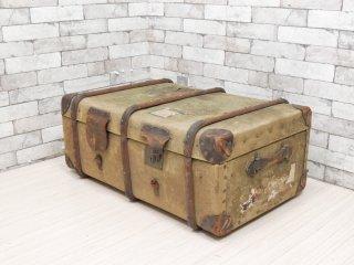 ビンテージ Vintage 木製 トランクケース 店舗什器 撮影用 アクメ購入 ●