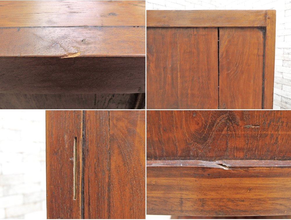 アジアン家具 無垢材xバンブー 階段キャビネット 3列3段 バリ家具 ●