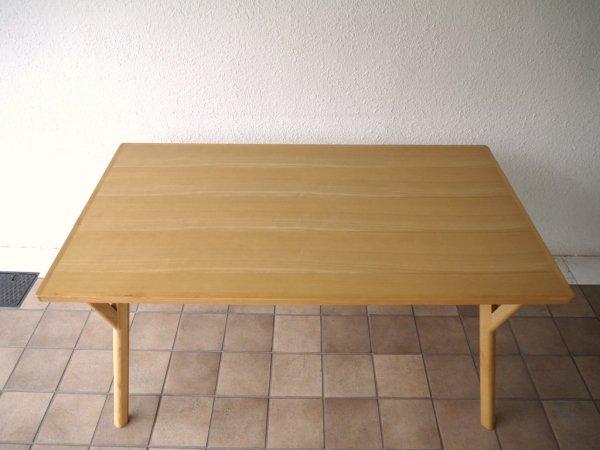 関家具 WISE TABLE タモ材 ダイニングテーブル ナチュラル 廃番 北欧スタイル ◇
