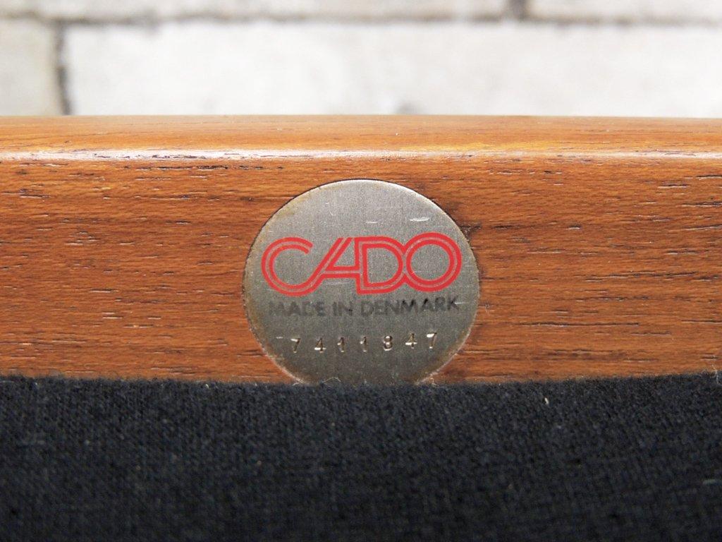 カド CADO Model168 Grand Danois 3人掛けソファ グレーテ・ヤルク ファブリック新品張替済み 北欧ビンテージ デンマーク ●