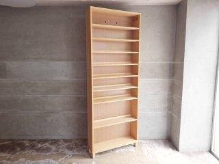 無印良品 MUJI タモ材 組み合わせて使える木製収納 H212cm 本棚 ブックシェルフ ♪