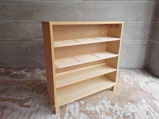 無印良品 MUJI タモ材 組み合わせて使える木製収納 ロータイプ 奥行21cm シェルフ 本棚 B ♪