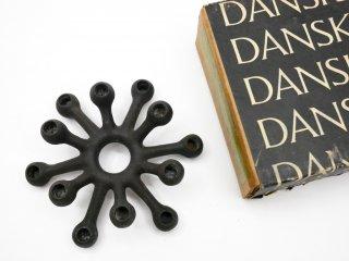ダンスク DANSK キャンドルスタンド TINY TAPER CANDLESTICK アイアン製 箱付 イェンス・クイストゴー デンマーク ビンテージ 北欧雑貨 ●