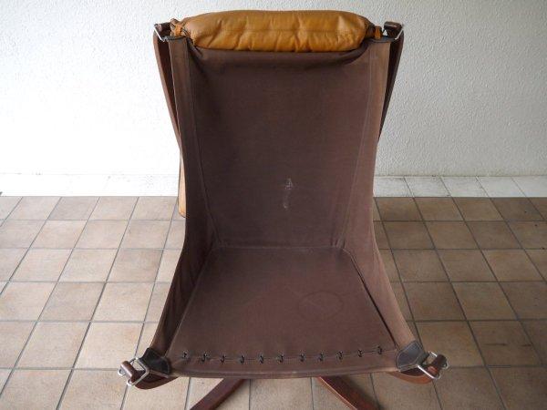 バットネ VATNE ファルコンチェア Falcon Chair イージーチェア 1Pソファ ラウンジチェア シガード・レッセル Sigurd Resell レザーシート ノルウェー ウレタン新品 ◇