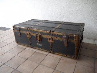 AOKI&CO ビンテージ トランク Vintage trunk トランクケース ローテーブル アンティーク ベンチ 店舗什器 ディスプレイ 真鍮×鉄 ◇