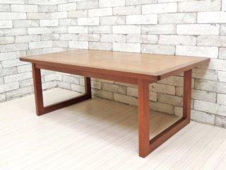 ジャパンビンテージ Japan Vintage チーク材 ローテーブル センターテーブル 北欧スタイル ●