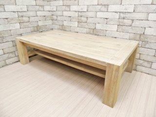 ウニコ unico マノア MANOA ローテーブル アカシア無垢材 W120cm 西海岸 ナチュラル 定価\39,600- ●