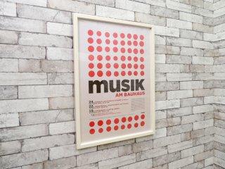 バウハウス Bauhaus ムジーク (ミュージック) Musik am Bauhaus2 額付 グラフィック アートポスター 2008年 音楽 ミッドセンチュリー モダニズム ●