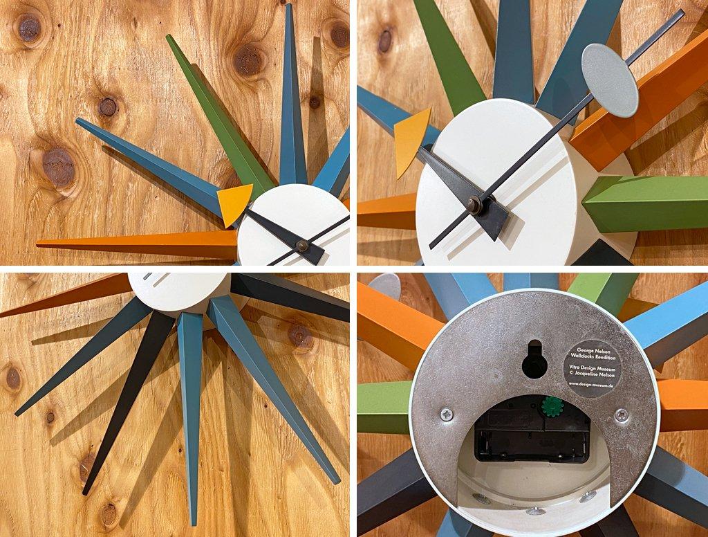 ヴィトラ Vitra ジョージネルソン George Nelson サンバースト Sunburst Clock 壁掛け時計 ウォールクロック マルチカラー ミッドセンチュリー ■