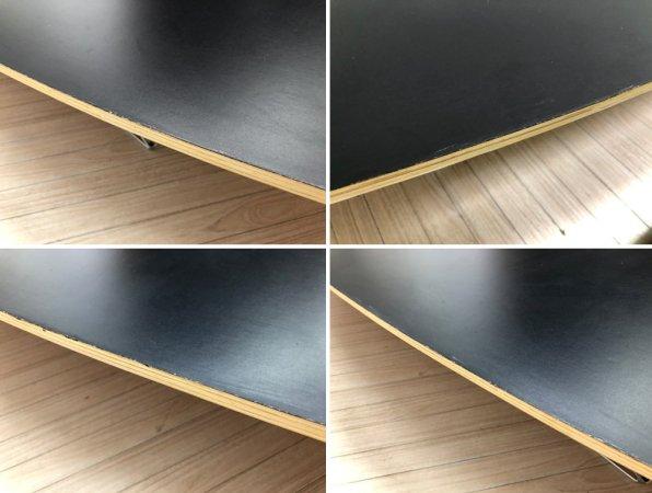 イームズ エリプティカルテーブル サーフボードテーブル リプロダクト品 ブラック天板 ●