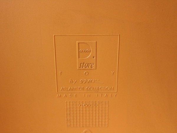 ドリアデ driade トイ アームチェア TOY オレンジ スタッキングチェア フィリップ・スタルク Philippe Starck 定価\143,000- ◎