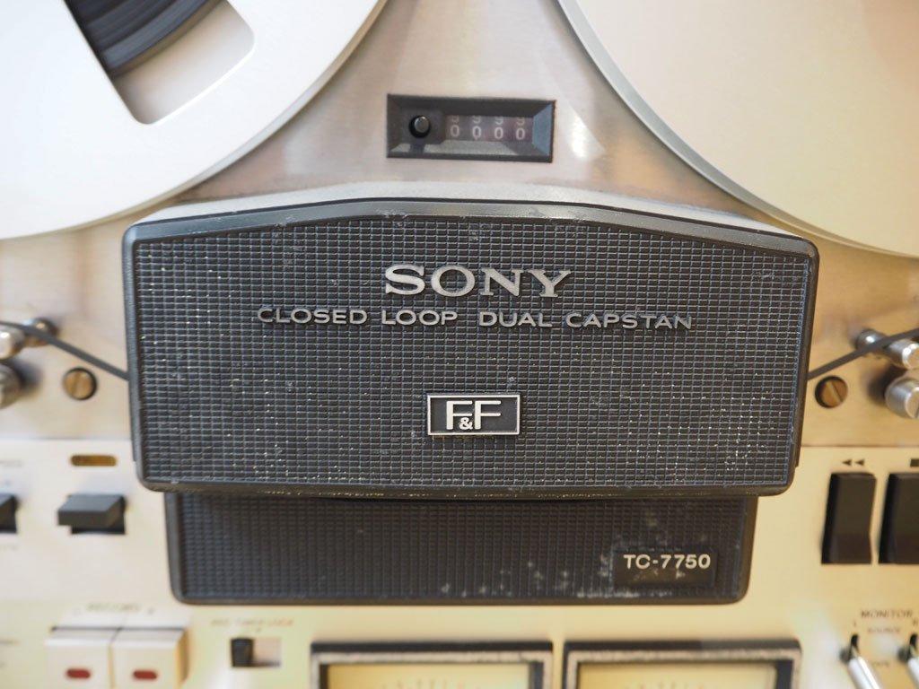 ソニー SONY TC-7750-2 オープンリール テープデッキ 昭和レトロ 動作・音出し確認済 オーディオ ★