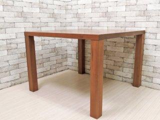 木蔵 BOKURA ウォールナット 正方形 ダイニングテーブル D-103 ブラウン シンプルデザイン 定価\136,180- ●