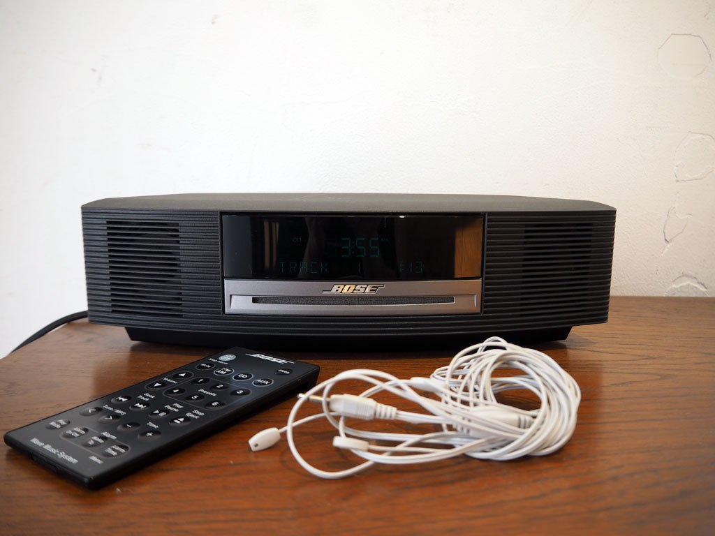 ボーズ BOSE ウェイブ ミュージック システム CDラジオ Wave music system Wave Radio AWRCCB リモコン FMアンテナ スロットイン CD ★