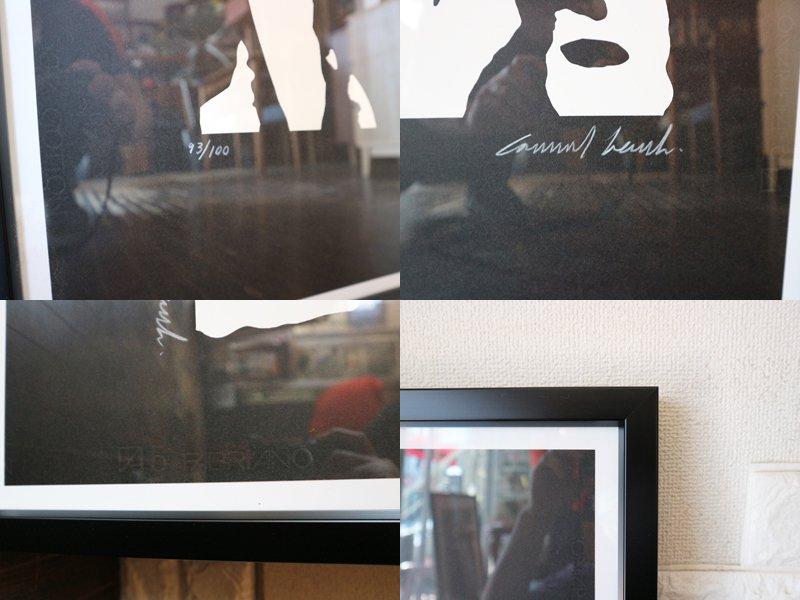 コンラッドリーチ CONRAD LEACH シルクスクリーン ジミ・ヘンドリックス アートフレーム 大型 ポスター 額装品 現代アート ポップアート イギリス ◎