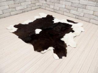 カウラグ 牛革カーペット 水牛 子牛 ラグマット 毛皮 敷物 98×110cm ●