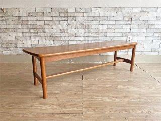 日進木工 NISSIN ベンチ オーク材 ブラウン 飛騨 国産家具 ●