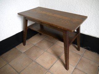 ジャパンビンテージ Japan vintage 古い木味のローテーブル 和家具 古道具 ◇