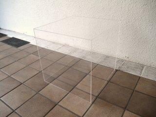 シンプルデザイン Simple Design アクリル製 ボックス サイドテーブル シェルフ クリア ◇