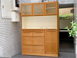 広松木工 Hiromatsu ルーチェ LUCE カップボード 食器棚 アルダー材 キッチンボード ■