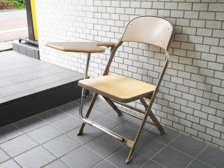 クラリン CLARIN フォールディングチェア with デスク ウッドシート 折り畳み椅子 US 米国 P.F.S 取扱い A ■