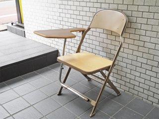 クラリン CLARIN フォールディングチェア with デスク ウッドシート 折り畳み椅子 US 米国 P.F.S 取扱い B■