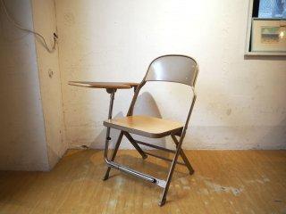 クラリン CLARIN フォールディングチェア with デスク ウッドシート 折り畳み椅子 US 米国 P.F.S 取扱い 2★