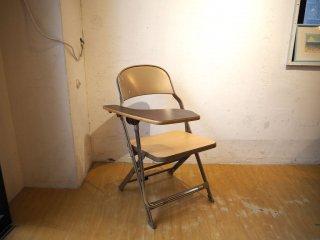 クラリン CLARIN フォールディングチェア with デスク ウッドシート 折り畳み椅子 US 米国 P.F.S 取扱い 1★