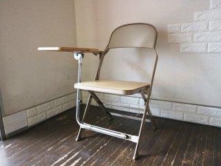 クラリン CLARIN フォールディングチェア with デスク ウッドシート 折り畳み椅子 US 米国 P.F.S 取扱い B ◎