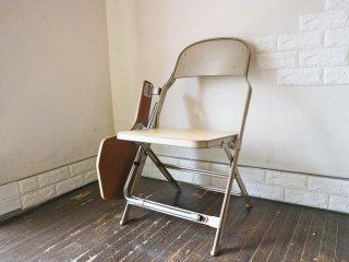 クラリン CLARIN フォールディングチェア with デスク ウッドシート 折り畳み椅子 US 米国 P.F.S 取扱い A ◎