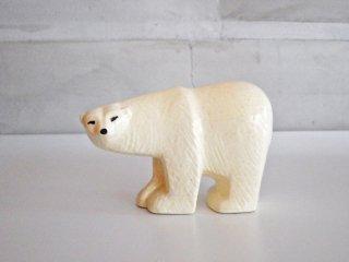 リサラーソン Lisa Larson スカンセン ポーラーベア Skansen Polar bear 復刻 オブジェ 置物 北欧雑貨 小 ♪