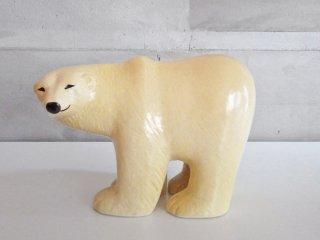 リサラーソン Lisa Larson スカンセン ポーラーベア Skansen Polar bear 復刻 オブジェ 置物 北欧雑貨 大 ♪