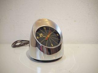 ジェファーソン JEFFERAON 500 クローム ビンテージ デスククロック Chrome Desk Clock ミッドセンチュリー ペーパーウェイト USビンテージ 60Hz ★