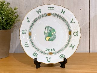 ヘレンド HEREND 干支シリーズ イヤーズプレート 2016年 さる 陶器製 ハンドペイント ハンガリー ■