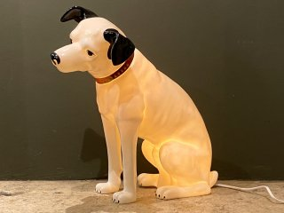 ビクター Victor ニッパー NIPPER 犬 照明 テーブルランプ 高43cm 樹脂製 ソフビ 昭和レトロ 希少 ■