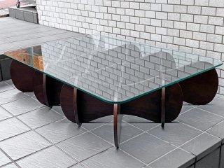 イーアンドワイ E&Y マトリックステーブル MATRIX TABLE ダークブラウン Lサイズ プライウッド リビングテーブル ■