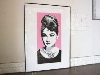 コンラッドリーチ CONRAD LEACH シルクスクリーン オードリー・ヘップバーン  大型 ポスター  現代アート ポップアート イギリス 額装なし ◎