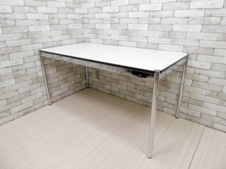 USMモジュラーファニチャー USMハラー USM Haller ワーキングテーブル カンファレンステーブル ダイニングテーブル W150cm ホワイトラミネート天板 B ●