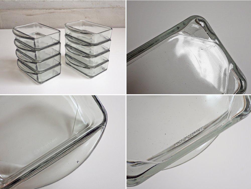 ディグスメド DIGSMED チーク材 回転トレイ ガラススクエアディッシュ 8個セット デンマーク ビンテージ ♪