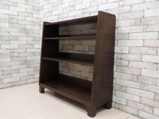 エーフラット a.flat ブックシェルフ Book shelf Lv02 木製 オープンシェルフ モダンアジアンスタイル シンプルデザイン 定価:61,500円 ●