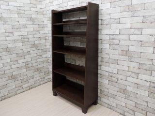 エーフラット a.flat ブックシェルフ Book shelf Hv02 木製 オープンシェルフ モダンアジアンスタイル シンプルデザイン 定価:75,042円 ●