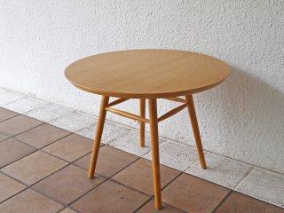 イデー IDEE アーオ AO テーブル ナチュラル アッシュ材 円形 ローテーブル 定価¥46,200- 岡嶌要 ◇
