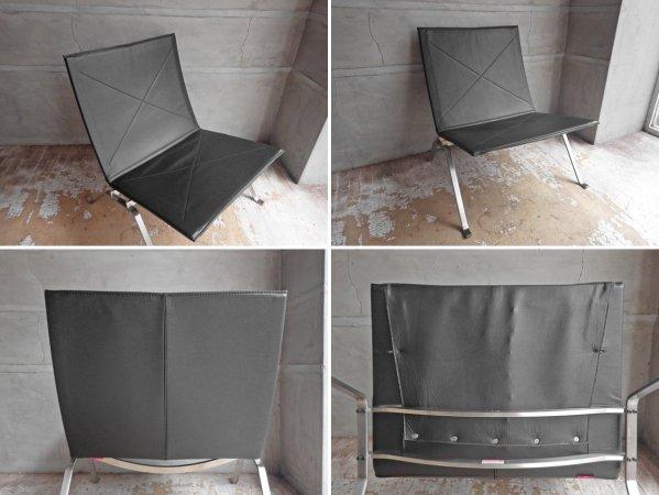 フリッツハンセン FRITZ HANSEN PK22 イージーチェア ラウンジチェア 本革張り ポール・ケアホルム 北欧家具 名作椅子 定価¥610,500- 美品 ♪