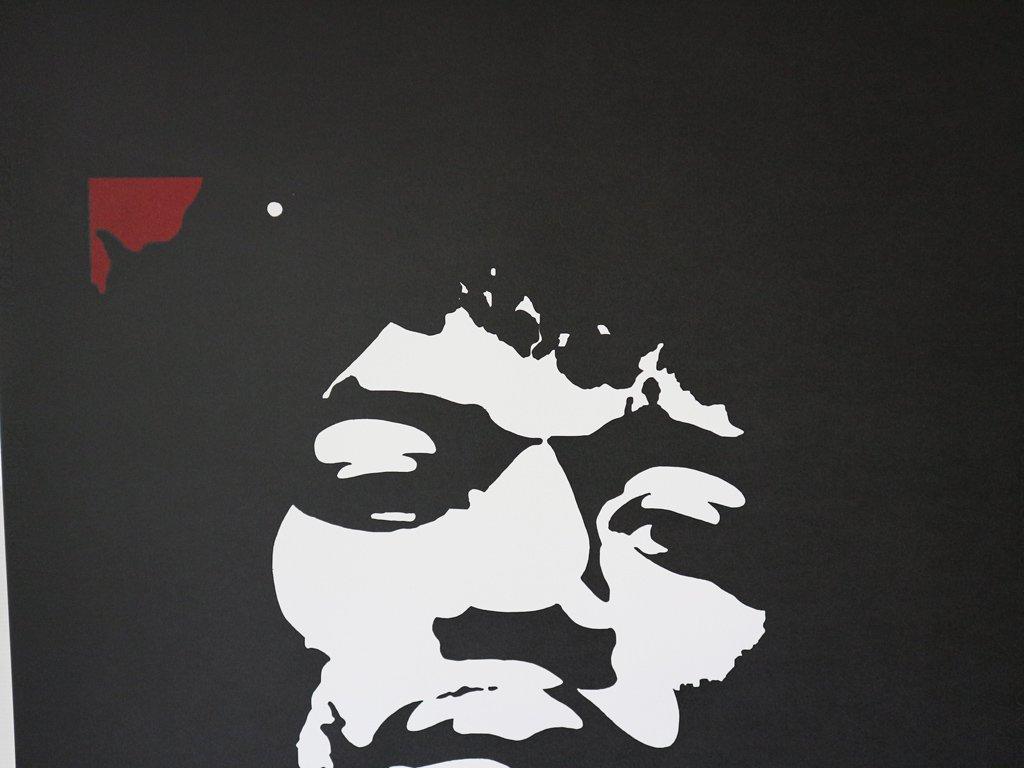 コンラッドリーチ CONRAD LEACH シルクスクリーン ジミ・ヘンドリックス  大型 ポスター  現代アート ポップアート イギリス 額装なし ◎