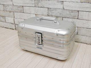 リモワ RIMOWA トパーズ TOPAS ビューティーケース Beauty Case メイクボックス 11L アルミ シルバー 定価: \79,800- 青ロゴ ●