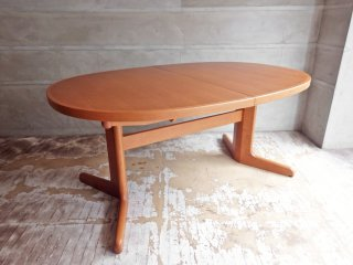 日進木工 NISSIN グロウ GROW ( Natural Brown ) 伸張式 EX エクステンション ダイニングテーブル オーバル オーク材 定価242,000円 ♪